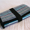 Baby change mat all in one - purple stripes