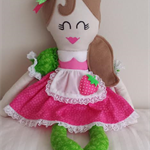 Hanmade Little Miss Doll - Inspired By Strawberry Shortcake