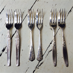 Pick Your Own Vintage Cake Fork - Wedding Cutlery - Bonbonniere - Flatware