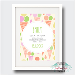 Gelati Birth Stat Nursery Print