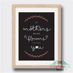 Mothers Were Flowers Print Wall Art Mothers Day