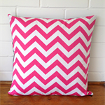 Bright Pink Chevron Zig Zag Cushion