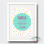Confetti Fun Birth Stat Nursery Print