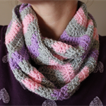 Crochet Chevron Childs Infinity Scarf