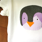 Penguin UNISEX Baby or Toddler Top // Bodysuit // Tee // Sizes Newborn to 4 year