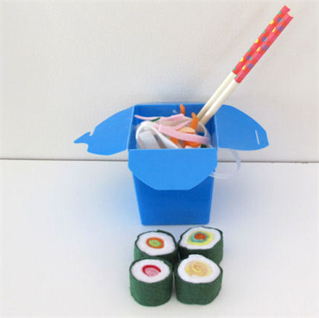 Felt Play Food, Noodle Box and Sushi