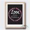 Love Builds a Happy Home Print Wall Art