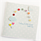 baby card rainbow buttons blue cloud