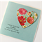 sister birthday card paper heart turquoise