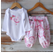 """Pink Ballet"" Set - Applique Onesie and Matching Harem Pants