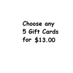 Choose any 5 cards for $13.00