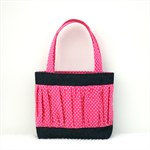 Mini Tote Bag - Pink Gathered