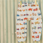 Boys vintage car harem pants size 6-12 months baby crawler toddler