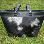 Genuine Cow Hide Leather Handbag
