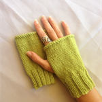 Gloves, Fingerless Mitts, Wrist Warmers in Avocado.  FREE POST IN AUST.
