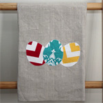 Easter Linen Tea Towel - Chevron & Damask