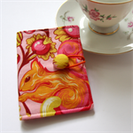 Ted Bag Wallet - Two Golden Squirrels on Pretty Pink