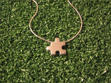 Jigsaw Handmade Sterling Silver Pendant With Snake Chain