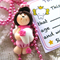 Pink Tooth Fairy Necklace and Certificate