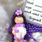 Purple Tooth Fairy Necklace and Certificate