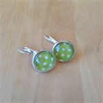 OLIVE GREEN PIN DOT EARRINGS