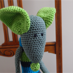 Maurice the house mouse: OOAK, crochet, washable, safe, acrylic wool