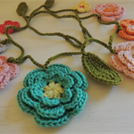 Crochet flower garland