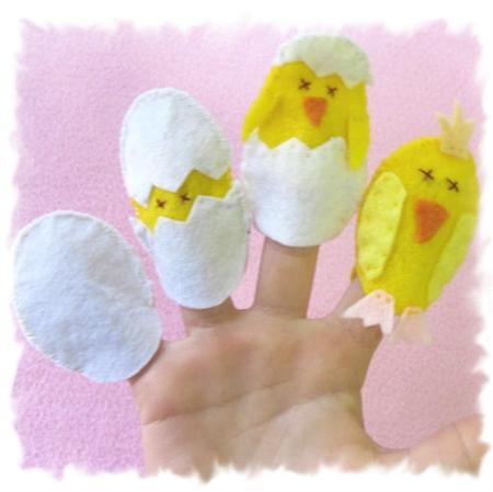Chicken and Egg Finger Puppet Set