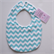 BUY 3 GET 4th FREE Aqua Chevron Zig Zag Bib