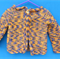 Toddler's Jacket - variegated purple yellow brown