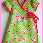 'Floral' Bubblegum Wrap Dress ~ Size 12-18 mth
