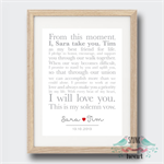 Wedding Anniversary Vows Wall Art Print