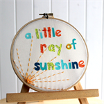 Sunshine Hoop - nursery / room decor / wall art