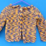 Toddler's Jacket - variegated purple yellow brown
