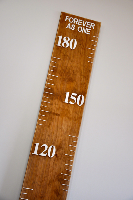 Growth Chart Vintage Wooden Ruler With Measurements In Cms 2