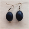 Black ceramic bead earrings.