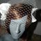 SALE..Entwined Love..wedding Birdcage White headpiece satin lace netting veil