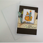 Birthday Card - Boys, Masculine, Mens, For a Guy, Chicken and Candle