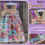 OOAK Size 3 ~ Woodland Friends Grace Munchkin Dress + FREE Gift