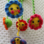 Nursery Decoration, Baby Mobile, Friendly Little Flowers Mobile