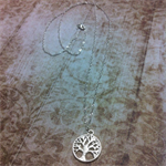 Tree of Life Silver Plated Twisted Chain Necklace