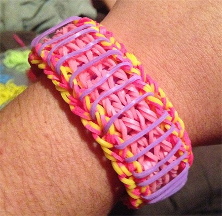 Rainbow Loom Band rubber bracelet sailors pinstripe ...