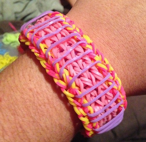 rainbow loom band rubber bracelet sailors pinstripe
