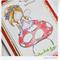 Happy Birthday Handmade & Coloured Greeting Card - Fairy on a Toadstool