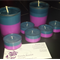 2 Container Candles + 5  tealight candles Multicoloured