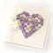 mother's day heart card gift boxed purples