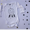 Dream Catcher Hand Screen Printed Long Sleeve Onesie