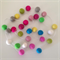 Felt Ball Garland in Hot Pink, Taupe, Bright Green, White, Pink, Bright Blue etc