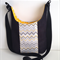 Messenger bag - black with yellow and grey chevron trim and adjustable strap
