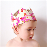 Vintage floral fabric crown 1. Reversible and adjustable